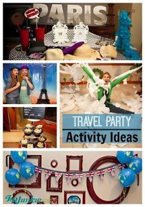 Wondering what games to play at a travel themed party? Wonder no longer because I've totally got your back! Take your guests on a First Class adventure around the world with ACTIVITIES at four popular...