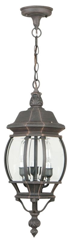 Features:  -3 Lights.  -Diffuser: Clear beveled glass.  -Cast Aluminum collection.  Style: -Traditional.  Fixture Finish: -Black. Generic Specifications:  -Accommodates: 3 x 60W C bulb. Dimensions:  O