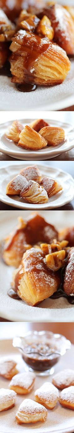 Biscuit Beignets with Praline Sauce. You must make this at least once in your lifetime. A true southern treat!