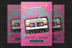 Retro Music Poster Template by EightonesixStudios on Envato Elements