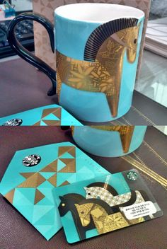Year of the horse mug and gift card. Starbucks limited edition only in korea. Perfectly sold out!!