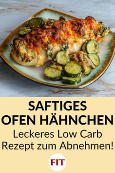 High Protein Low Carb, Low Carb Keto, Cooking Recipes, Healthy Recipes, Protein Diets, Zucchini, Food And Drink, Chicken, Vegetables