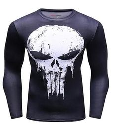 Medium. Cycling Compression Long Sleeve Superman Top Size
