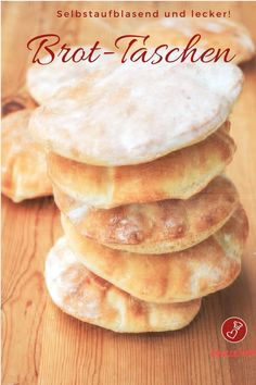 Bread pocket recipe - quick, self-inflating pita bread with only 4 ingredients . - Bread bag recipe – quick, self-inflating pita bread with only 4 ingredients! and bake Bread - Quick Bread Recipes, Quick Meals, Pie Recipes, Cooking Recipes, Party Recipes, Vegan Bread, Bread Baking, I Love Food, Food Inspiration