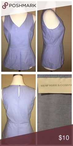 🥐New York & Company Cotton Top In a crisp light blue New York & Company Tops