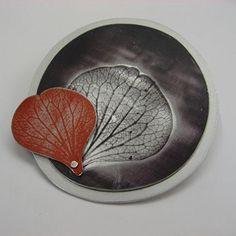 Sylvia Blickman, brooch, aluminium