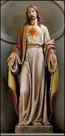 "48"" 4 ft Sacred Heart Basilica Church Statue Statuary Indoor Outdoor Catholic 
