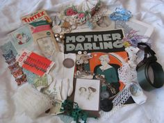 Antique Inspiration Kit for Craft Scrap Book or by LuvMeTwoTimes