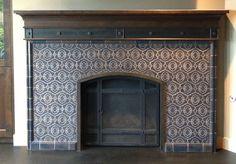 Totten Tileworks mosaic fireplace.