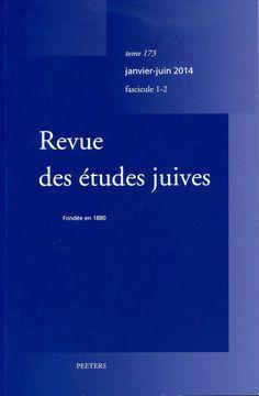 Revue des études juives t. 173, fasc. 1-2 (2014)