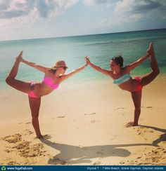 Check out the amazing Dancer Pose by Crystal Tomlinson; yoga pose performed at 7 Mile Beach, Grand Cayman, Cayman Islands on YogaTrail; the World's Yoga Network. Best Friend Photography, Beach Photography, Photography Ideas, Sister Beach Pictures, Friend Pictures, Friend Pics, Friend Goals, Bffs, Bestfriends