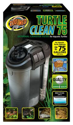 Check out Zoo Med's NEW Turtle Clean™ 75 Canister #Filter. Perfect for 75 gallon #aquatic tanks, tubs, and pools.
