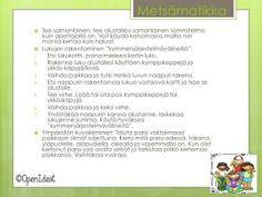 OpenIdeat: Metsä-teema, osa 1 Word Search, Science, Teaching, Words, Maths, Outdoors, Outdoor, Learning, Education