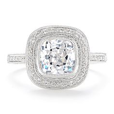 Beverley K Cushion Cut Engagement Ring | Greenwich Jewelers