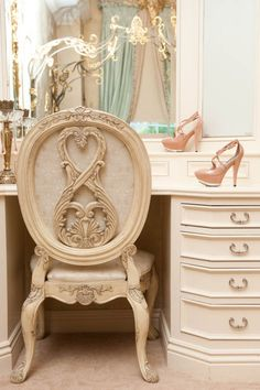 beautiful little office corner. Paint a old shoe and use as a holder of some kind. Just a thought so Girly GirL I am lol :)