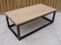 salontafel metalwood 120x60x45cm koker 4