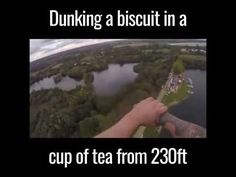 Dunking A Biscuit In A Cup Of Tea From 230ft Bungee Jump (World Record) Bungee Jumping, World Records, Tea Ceremony, Biscuit, Tea Cups, Youtube, Crackers, Youtubers, Biscuits