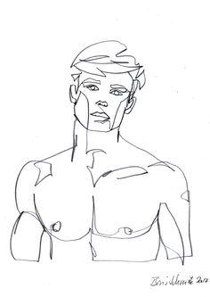 """Gaze continuous line drawing by Boris Schmitz Guy Drawing, Figure Drawing, Line Drawing, Painting & Drawing, Pencil Art Drawings, Art Drawings Sketches, Male Body Art, Minimalist Art, Art Inspo"