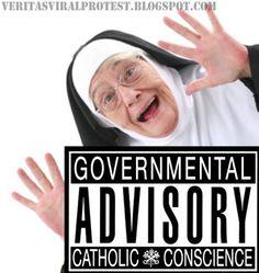 Veritas Viral Protest: Beware! We are Catholic.