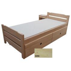 Postel senior 90x200 vč.roštu - smrk Toddler Bed, Bench, Storage, Furniture, Home Decor, Child Bed, Purse Storage, Decoration Home, Room Decor