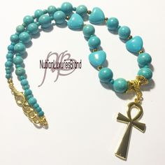 A personal favorite from my Etsy shop https://www.etsy.com/listing/293467309/kemetic-jewelry-ankh-necklace-turquoise