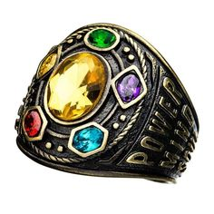 Shop a great selection of Sales One International Infinity Gauntlet Class Infinite Power Ring. Find new offer and Similar products for Sales One International Infinity Gauntlet Class Infinite Power Ring. Moda Geek, High School Rings, Mind Stone, Thanos Infinity Gauntlet, Golden Ring, Antique Gold, Turquoise Bracelet, Cuff Bracelets, Jewelery