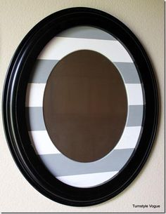 DIY Tutorial: DIY Mirror / DIY: How To Turn A Picture Frame Into A Mirror Using Nothing But Paint - Bead&Cord