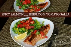 Spicy Salmon with Heirloom Tomato Salsa | OAMC from Once A Month Meals