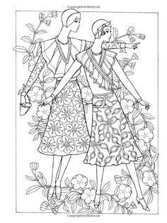 Dover Publications on Amazon / Creative Haven Art Deco Fashions Coloring Book / Ming-Ju Sun