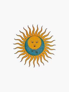 'Sun & Moon' Sticker by amandabrynn Hippie Wallpaper, Iphone Wallpaper, Cellphone Wallpaper, Sun Doodles, Spiritual Wallpaper, Henna, Moon Symbols, Sun Aesthetic, Sun Designs