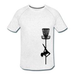Disc Golf Diva Pole Dancer - Men's Performance  Shirt  - Black Print
