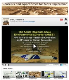 """[June 13, 2012 ] - [June 13, 2012] Mars Aviation -- Dr. Joel Levine, formerly of NASA Langley Research Center and others discuss Mars UAV's (""""drones"""") and balloon proposals at #MarsConcepts2012: http://livestre.am/3XQGO"""