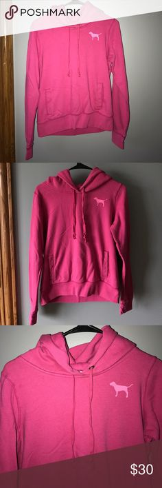 VS Pink hoodie Victoria's Secret PINK graphic hoodie. Super good quality, GREAT condition! Size M PINK Victoria's Secret Tops Sweatshirts & Hoodies