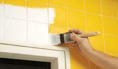 Truco para renovar nuestra cocina: pintar azulejos