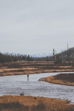 man-and-camera:  Lone Fisherman in Yellowstone National Park ➾ Luke Gram