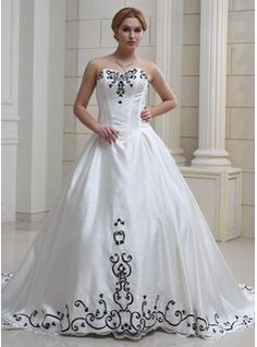 Wedding Dresses - $255.99 - Ball-Gown Sweetheart Cathedral Train Organza Satin Wedding Dress With Embroidered Beading Sequins  http://www.dressfirst.com/Ball-Gown-Sweetheart-Cathedral-Train-Organza-Satin-Wedding-Dress-With-Embroidered-Beading-Sequins-002012633-g12633