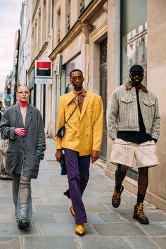 Boy Fashion, Fashion Photo, Mens Fashion, Paris Fashion, High Fashion, Style Fashion, Street Style Trends, Street Style Looks, Street Outfit