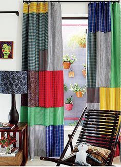 cortina retalhos