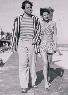 Orson Welles and Rita Hayworth    These young married movie stars found Miami Beach the best place to recuperate - he from jaundice and she from flu contracted in California. January, 1944  (m. 1943–1948, divorced, one child, Rebecca Welles)