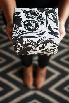 ARIANNA+black+and+white+or+faux+gold+floral+20+by+KhristianAHowell