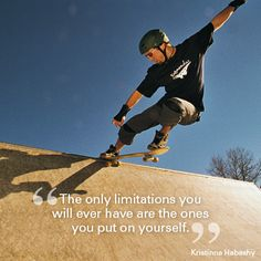 """The only limitations you will ever have are the ones you put on yourself."" Kristinna Habashy #quote #motivational #travel"