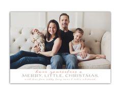 Custom Photo Christmas Card (Family photo Christmas card, photo holiday card, printable holiday card) - The Whitcomb