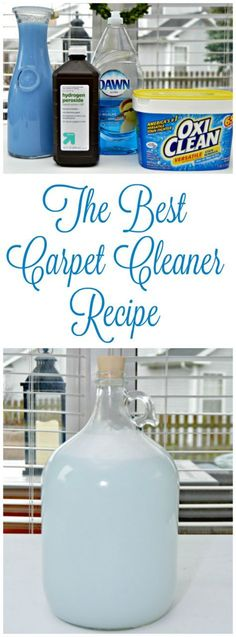 The best carpet cleaner recipe - great for pet smells, wine stains and so much more. It will leave your carpets clean and smelling amazing!