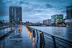 Salford Quays, Manchester, England, United Kingdom, photograph by Keith Page. Manchester Travel, Manchester Art, Manchester England, Mykonos, Santorini, Cityscape Photography, Urban Photography, Street Photography, Salford Uni