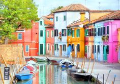 Colorful Houses at the Island of Burano puzzle in Street View jigsaw puzzles on TheJigsawPuzzles.com. Play full screen, enjoy Puzzle of the Day and thousands more.