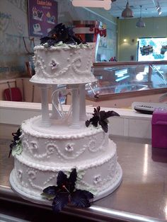 Delightful Carvel Ice Cream Wedding Cake