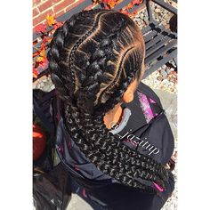Braids By : Jazitup Four Piece Jumbo And Tinny Feed In Braids. Cute  Inspiration For A Conrow Style.