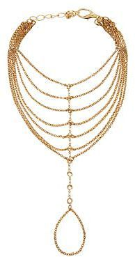 Womens gold necklac from New Look - £3.99 at ClothingByColour.com