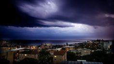 Storm clouds over Caloundra, Queensland Nov 18 2012