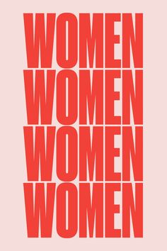 The Pink + Red Trend // Red and pink Women poster by For All Womankind Poster S, Poster Wall, Poster Prints, Photo Wall Collage, Picture Wall, Typographie Logo, Women Poster, Wall Prints, Inspirational Quotes